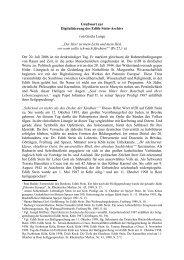 Grußwort zur Digitalisierung des Edith-Stein-Archivs von Gisela Lange