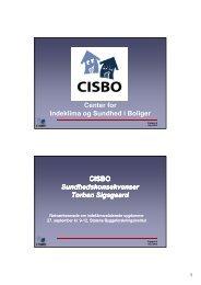 Center for Indeklima og Sundhed i Boliger CISBO ...