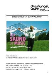 Begleitmaterial Da Sound of Music - Dschungel Wien
