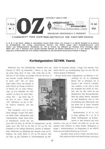 Kortbølgestation OZ1NW, Vaarst. - Søg i OZ