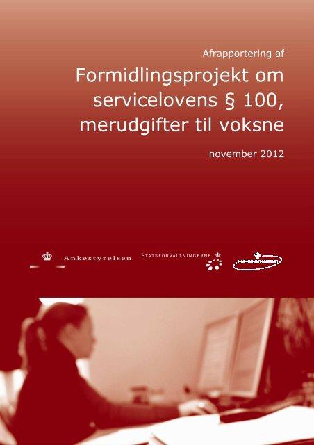 Formidlingsprojekt om merudgifter til voksne ... - Ankestyrelsen
