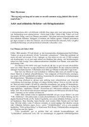 och förlagskontakter - Arbetarrörelsens arkiv och bibliotek