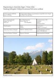 Registrering av historiske hager i Troms fylke Sandeng kirkegård i ...