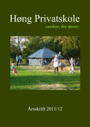 8. klasse - Høng Privatskole