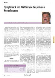 Symptomatik und Akuttherapie bei primären Kopfschmerzen