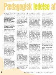 Pædagogisk ledelse af andre personer - Servicestyrelsen
