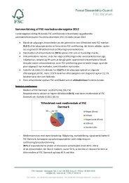 FSC Markedsundersøgelse, 2012, resume Resume af FSC ...