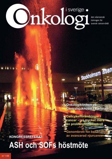 Nr 1 2008 - Onkologi i Sverige