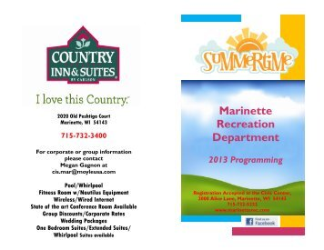 the Summer 2013 Recreation Fun Guide - City of Marinette