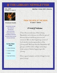 @ THE LIBRARY NEWSLETTER - College of New Rochelle