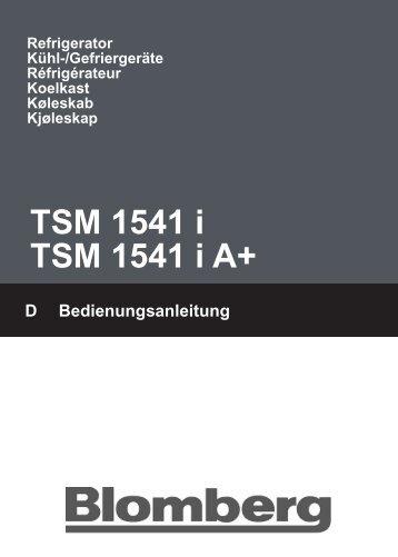 TSM 1541 i TSM 1541 i A+
