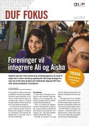 Foreninger vil integrere Ali og Aisha - Dansk Ungdoms Fællesråd
