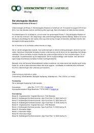 Det økologiske Akademi - LandbrugsInfo