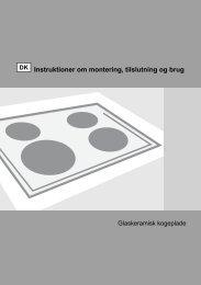 Instruktioner om montering, tilslutning og brug - Hvidt & Frit