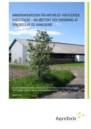 ammoniakemission fra naturligt ventilerede kvægstalde - AgroTech