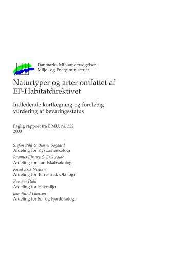 Naturtyper og arter omfattet af EF-Habitatdirektivet. Indledende
