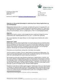 Lantmännen Danpo A/S Vestre Skovvej 3 9600 Aars ... - Miljøstyrelsen