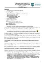 Uanmeldt kommunalt tilsynsrapport 2012 - Viborg Kommune