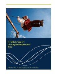 kvalitetsrapport dagtilbud 2012 - Struer kommune