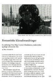 Romantiske klimaforandringer
