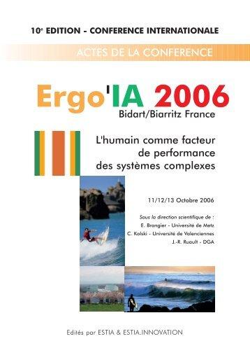 ACTES ERGOIA 2006.indd - Ergo'IA - Estia