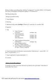 Referat fra Generalforsamlingen 2008