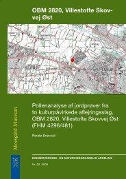 OBM 2820, Villestofte Skovvej Øst. Pollenanalyse af jordprøver fra to ...
