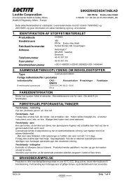 Sikkerhedsdatablad - HIN A/S Online Webshop