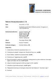 Referat af bestyrelsesmøde nr. 32 - Skovshoved-Klampenborg ...
