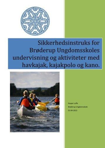 Sikkerhedsinstruks for BU sejlads med havkajak kajakpolo og kano