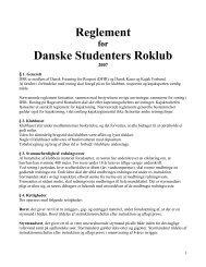 DSRs reglement - Danske Studenters Roklub
