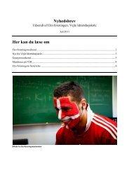 Nyhedsbrev Her kan du læse om - Vejle Idrætshøjskoles Elevforening