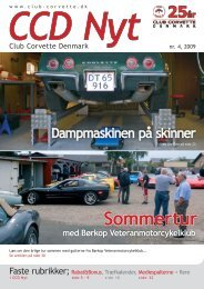 CCD Nyt - Club Corvette Denmark