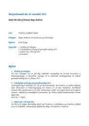 Bestyrelsesmøde den 10. november 2012 Referat - LM Klubben