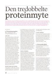 Den tredobbelte proteinmyte v - Dansk Vegetarforening