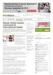 Dansk virtuel motion nomineret til international hæder