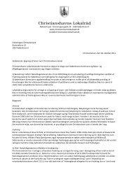 Klage til Folketingets Ombudsmand - Christianshavns Lokalråd