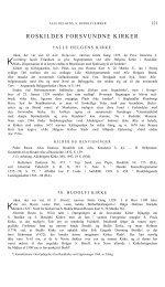 ROSKILDES FORSVUNDNE KIRKER - Danmarks Kirker