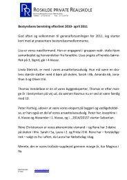 Bestyrelsens beretning 2011 - Roskilde private Realskole