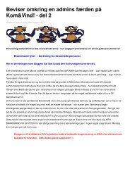 Beviser omkring en admins færden på Kom&Vind! - del 2 - CaniDK