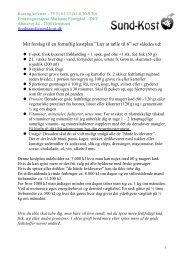 Kostplan og opskrifter til tilmeldte af nyhedsbrevet - Sund-Kost