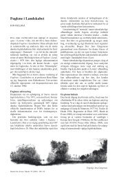 Fuglene i Landskabet -- Jon Fjeldså - Dansk Ornitologisk Forening