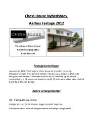 Chess House Nyhedsbrev Aarhus Festuge 2012 Festugeturneringen