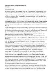 Formandens beretning til generalforsamlingen 2008