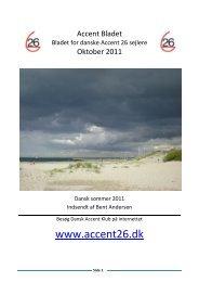 Accent bladet oktober 2011 - Dansk Accent Klub