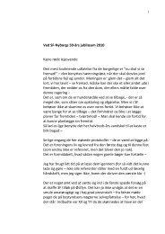 Niels Aage Jensens tale ved jubilæet. - SF-Nyborg