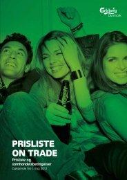 PRISLISTE ON TRADE - Carlsberg Danmark