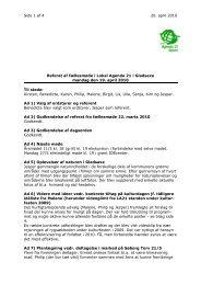 Side 1 af 4 20. april 2010 Ruth Johansen Bagsværd Hovedgade 81 ...