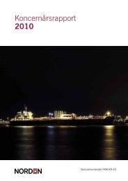Indhold Koncernårsrapport 2010 - DS Norden