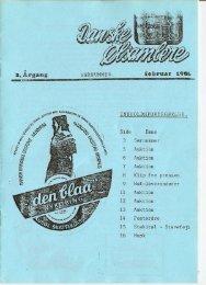 1986 – Blad 1 Ekstra - Danske Ølsamlere